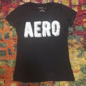 Aeropostale Glitter Logo T-Shirt Size Large